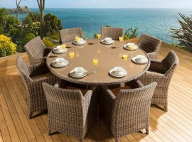 Outdoor Dining Set Round