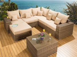 Outdoor Garden 6 Seater Corner Sofa