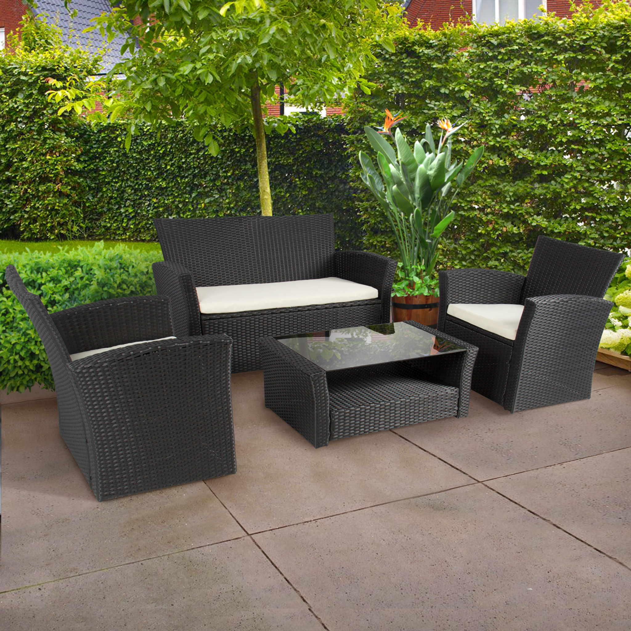 How to select the best quality patio furniture for your for Black porch furniture