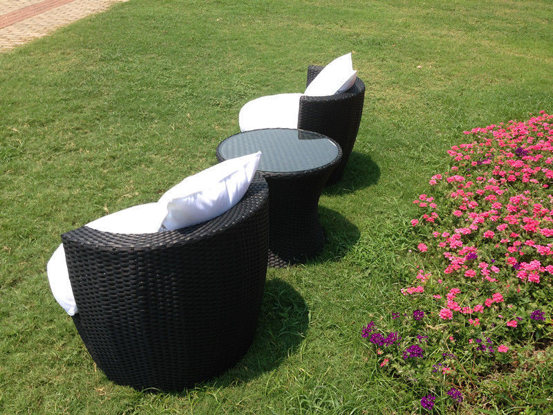 Rattan Effect Egg Patio Furniture Set