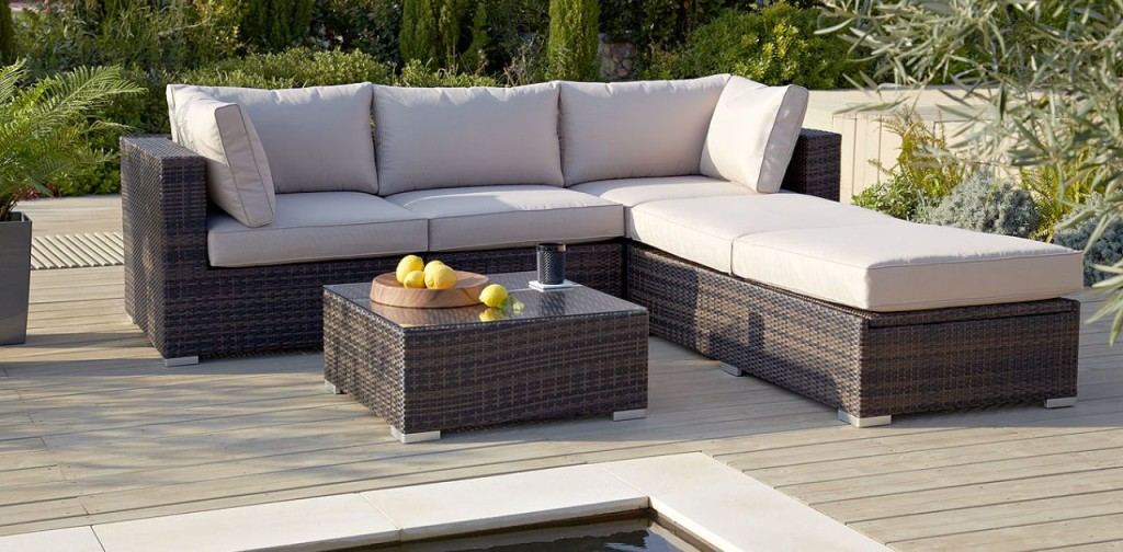 rattan garden furniture sofa set