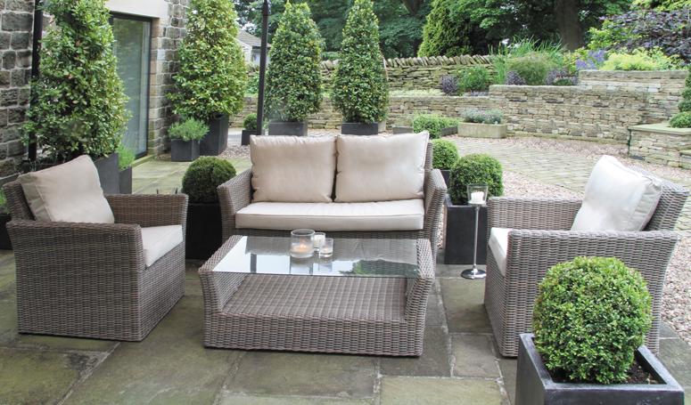 rattan garden furniture sofa