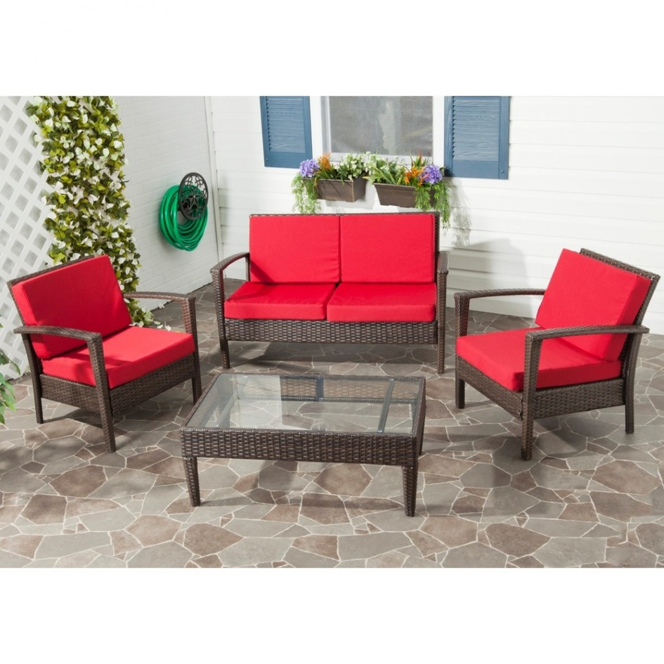 Wicker and rattan patio