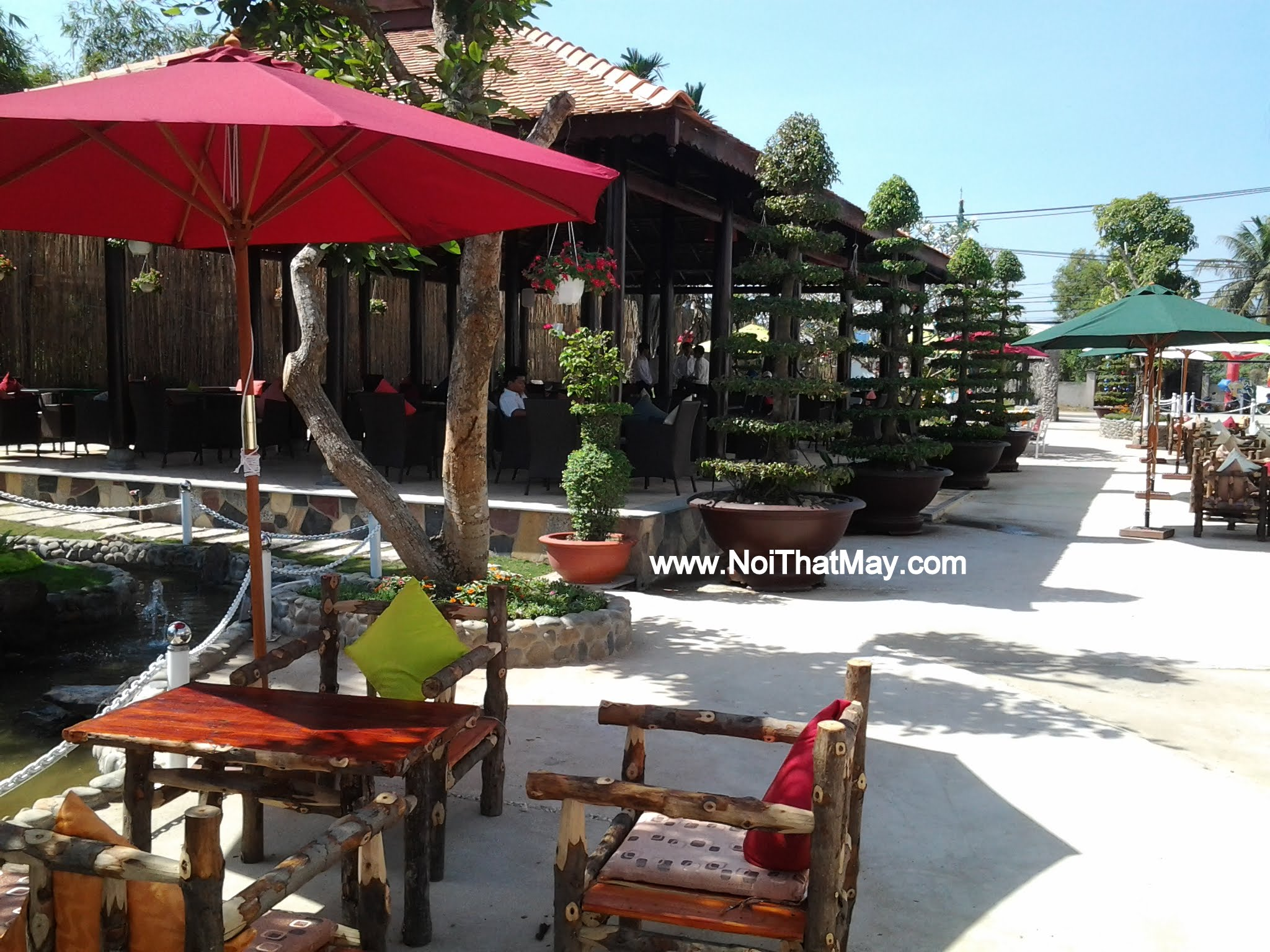 Outdoor wicker dining set Cafe Art Garden