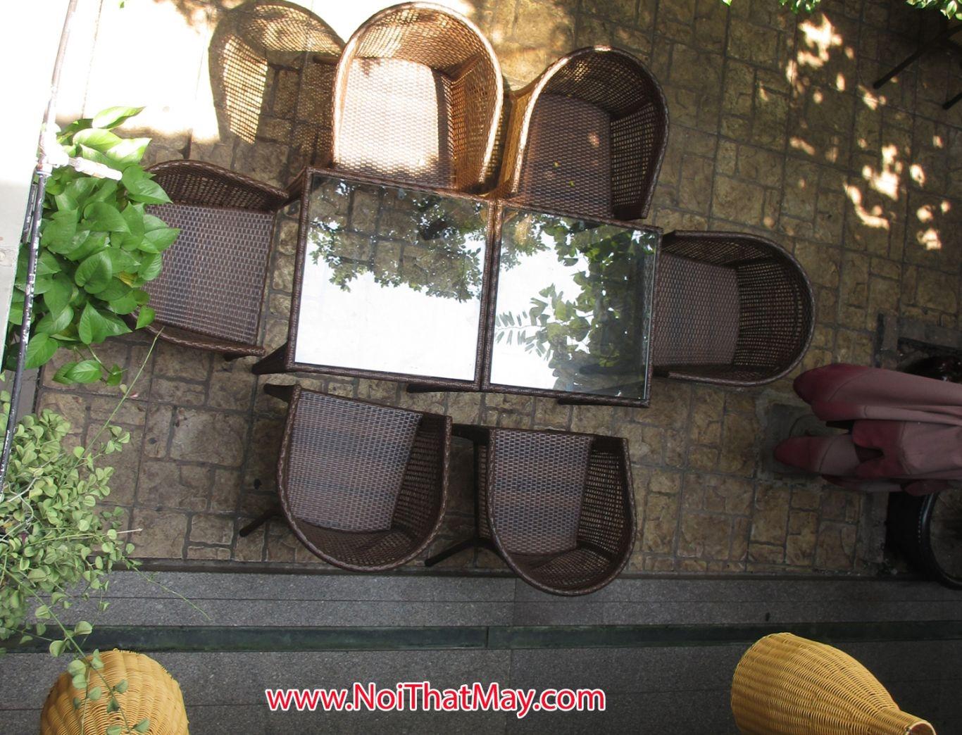 Outdoor wicker dining set