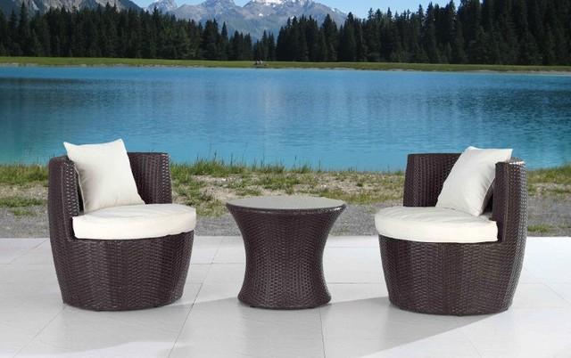 rattan garden furniture dining set