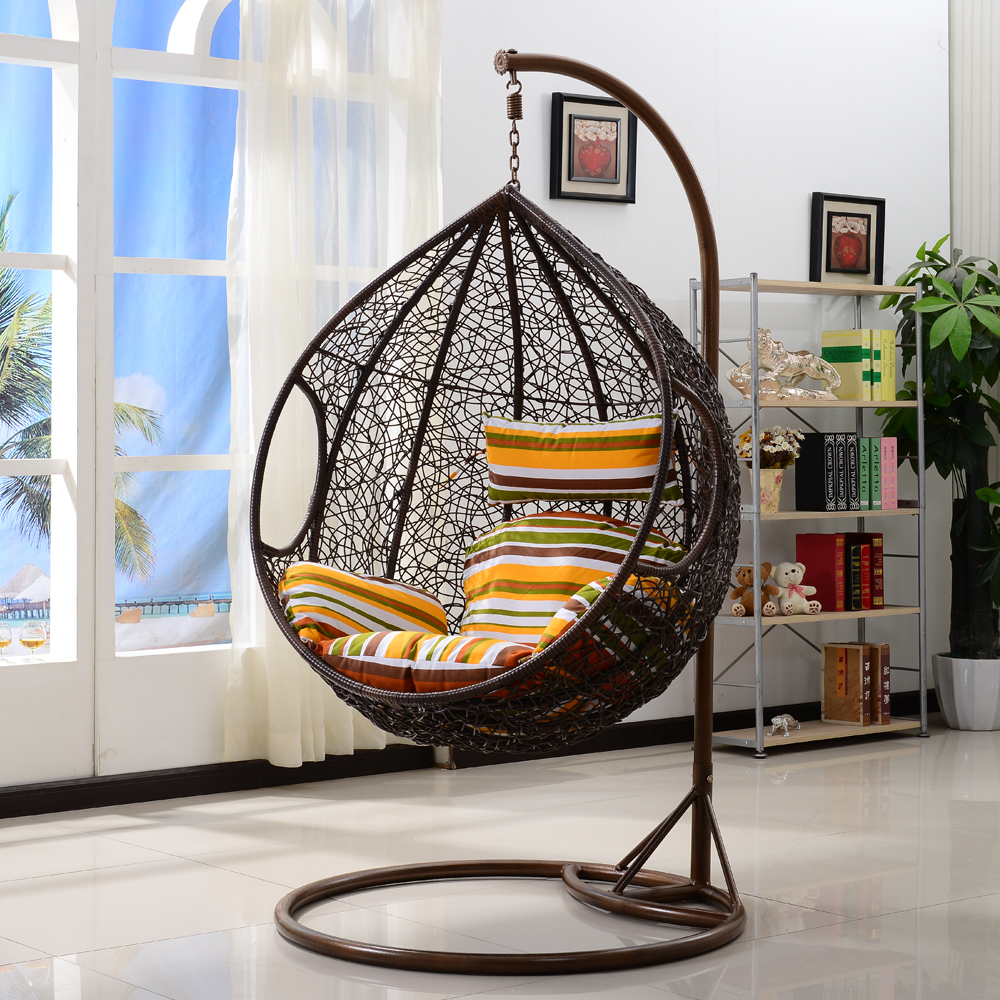 Outdoor Wicker Swing Chair Fun And Comfortable Furniture