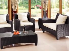 wicker outdoor sofa set