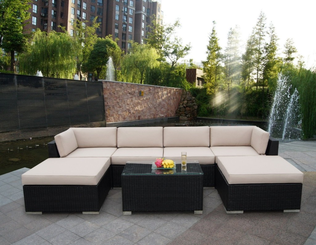 Rattan wicker sofa set