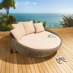 Sofa Mocha Rattan | Outdoor Rattan Wicker Sunlounger