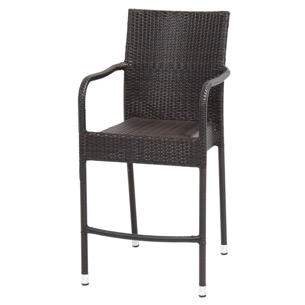 Outdoor Wicker Bar Stool | Patio Resin Wicker Bar Stools