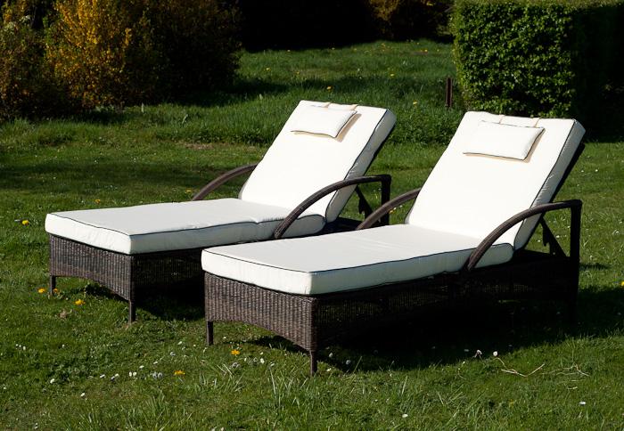 Rattan Garden Sun Loungers