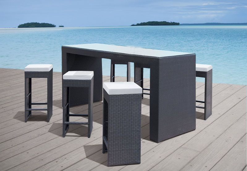 Outdoor Wicker Bar Set 814