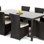 How do you design wicker dining chairs with black wicker dining chairs ?