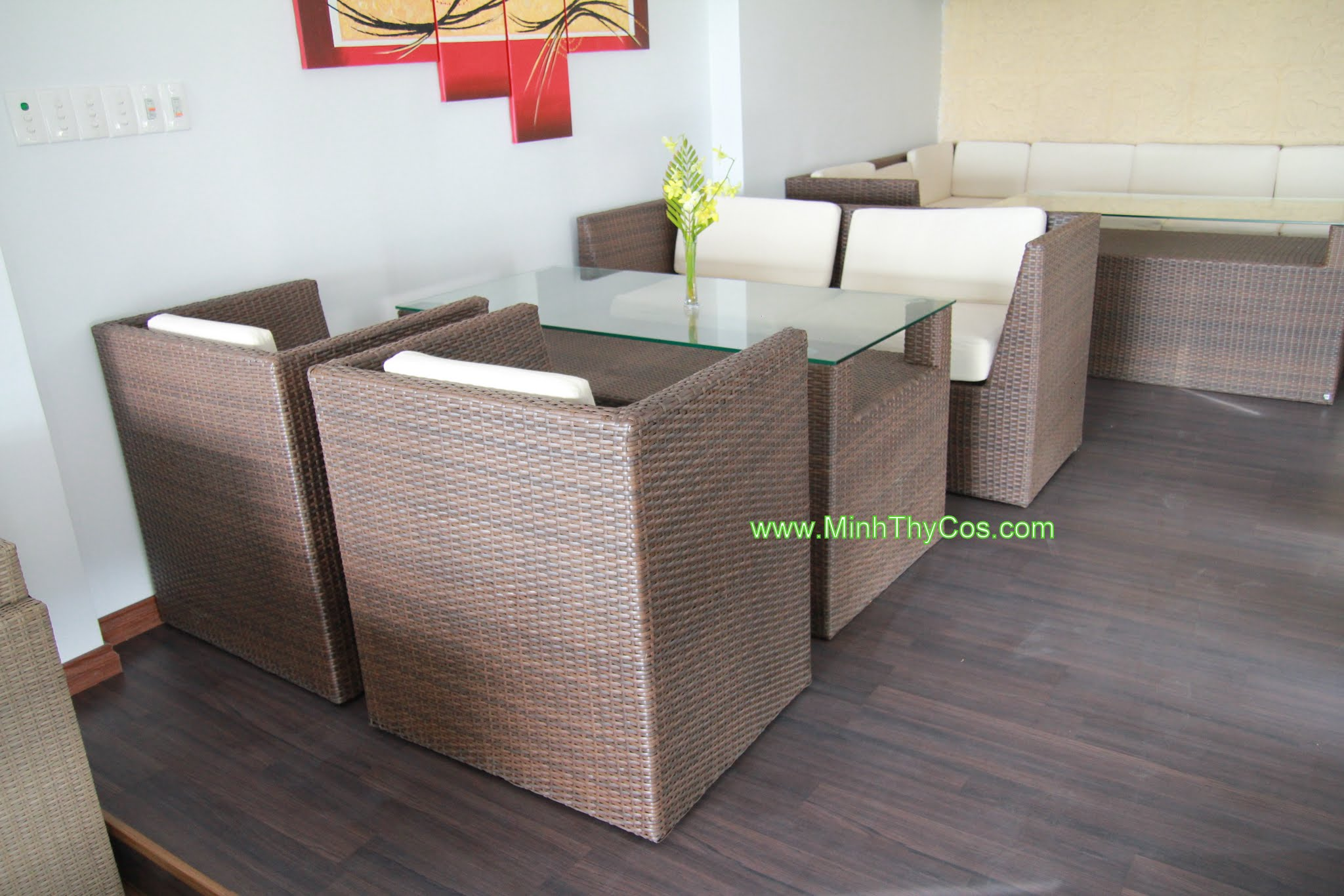 Outdoor wicker sofa set cafe SunOcean Da Nang