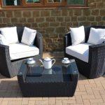 Outdoor Rattan Chair Set