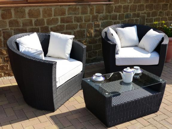 Outdoor Rattan Chair Set