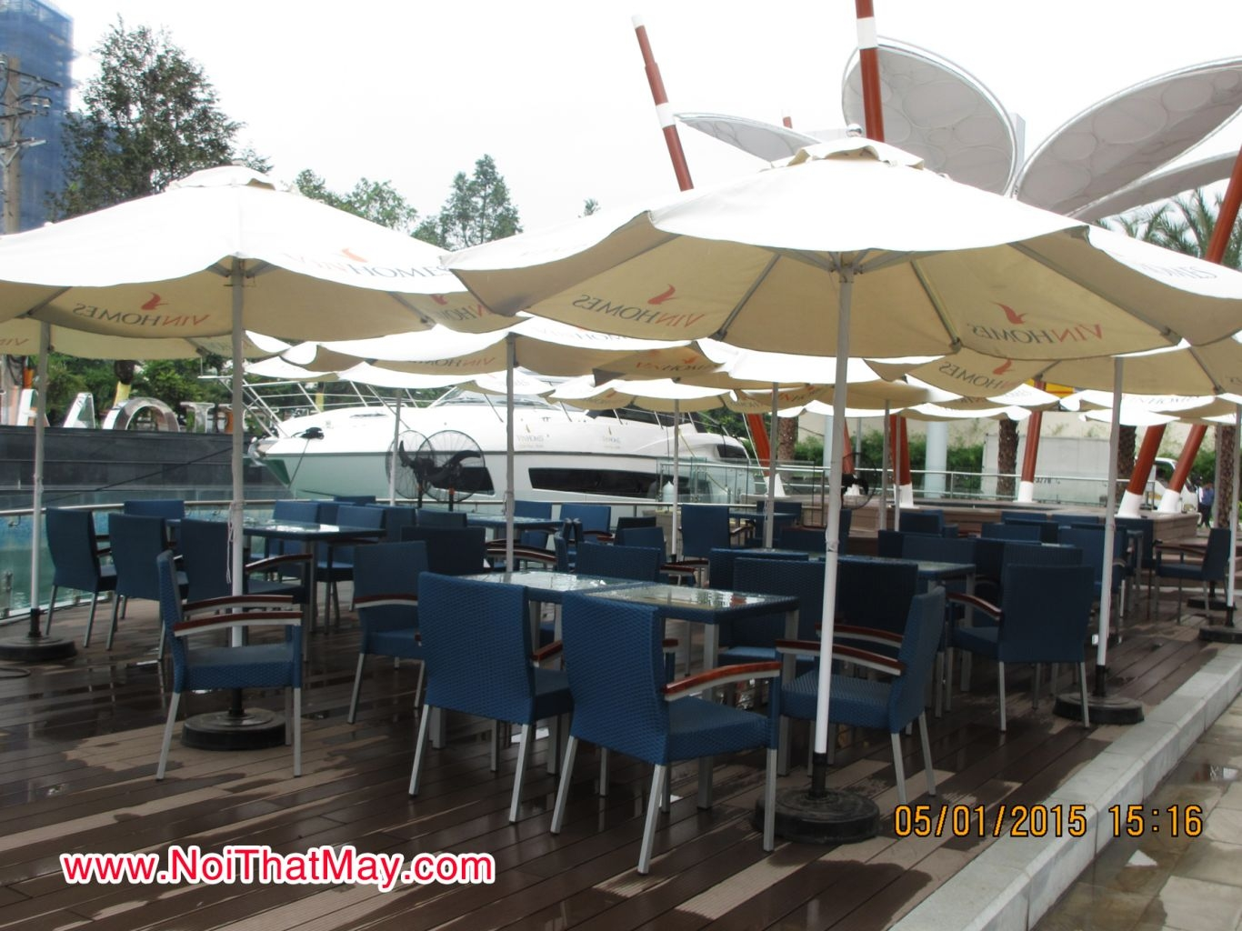 Outdoor wicker dining set vinhomes central park