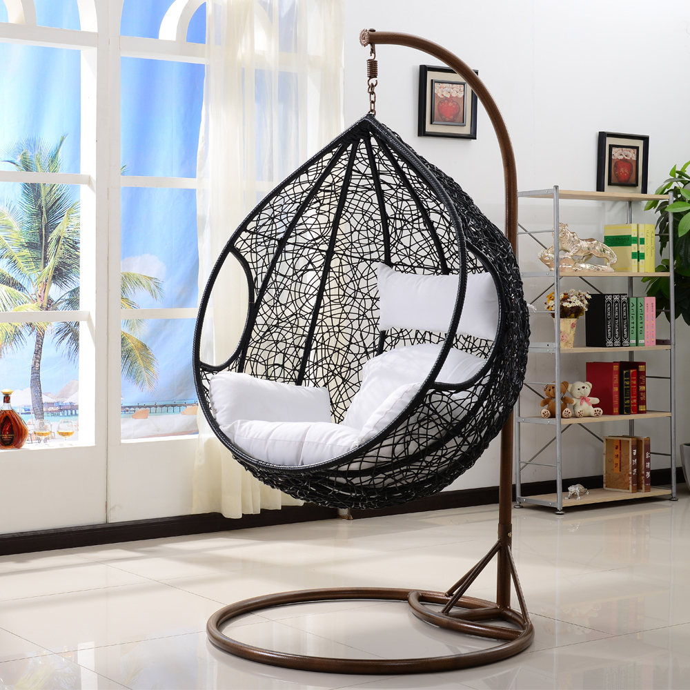 swing hanging wicker chair