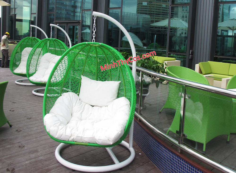 outdoor wicker swing chair