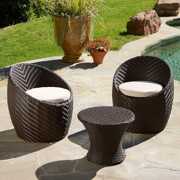 wicker chairs patio furniture - Garden Furniture 3 Piece