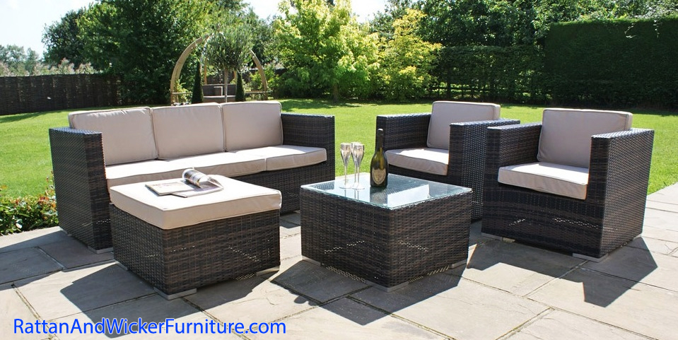 Outdoor Patio Sofa Set Rattan Furniture